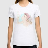 Bubbles Womens Fitted Tee Ash Grey SMALL