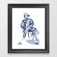 Cross You're Legs And … Framed Art Print