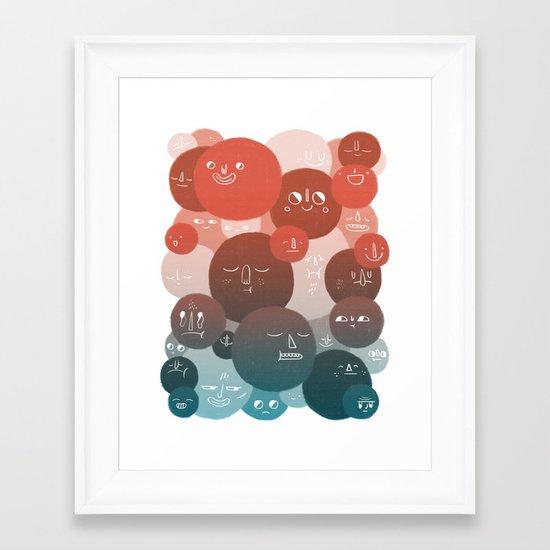 Blood Cells Framed Art Print