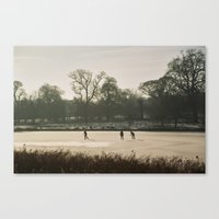Skating On Ice Canvas Print