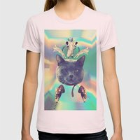 Galactic Cats Saga 3 Womens Fitted Tee Light Pink SMALL