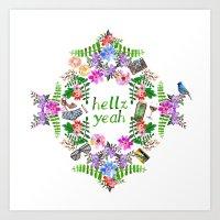 Hellz Yeah Art Print