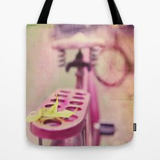I Rode My Bicycle Past Your Window Last Night Tote Bag