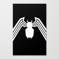 Symbiote Spider man Canvas Print