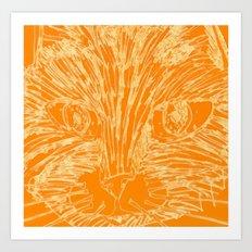 Orange Kitty Art Print