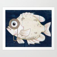 Monocle Fish Art Print
