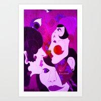Ladies Pink Art Print