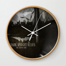 dark knight rises movie fan poster Wall Clock