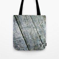 Graffiti Wood Tote Bag