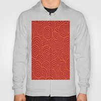 Red Pattern Curlies Hoody
