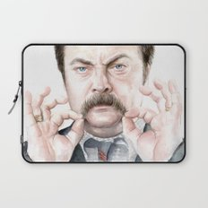 Swanson Mustache Laptop Sleeve
