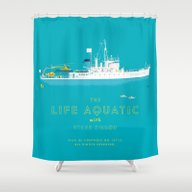 The Life Aquatic With St… Shower Curtain