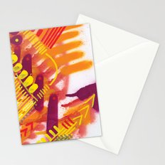 Yellow on Orange Stationery Cards
