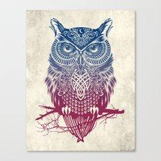 Evening Warrior Owl Canvas Print