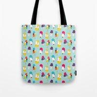 Ice cream pattern - light blue Tote Bag