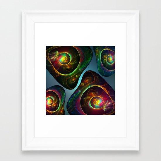 Fractal Minerals Framed Art Print