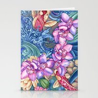 Orchid Splash Stationery Cards