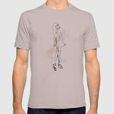 The Bow - Fashion Illustration Mens Fitted Tee Cinder SMALL