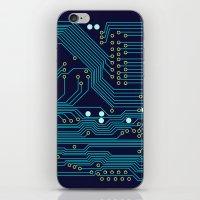 Dark Circuit Board iPhone & iPod Skin