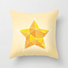 Geometric Star Polygon Print Throw Pillow