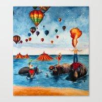Rising Circus Canvas Print