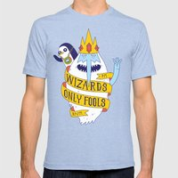 Wizards Only Fools Mens Fitted Tee Tri-Blue SMALL