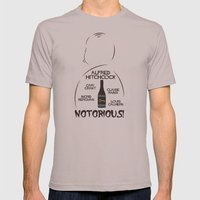 Notorious! Alfred Hitchcock Movie Poster Mens Fitted Tee Cinder SMALL