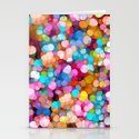 Rainbow Party Colors Stationery Cards