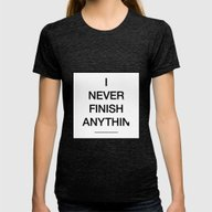 Never Womens Fitted Tee Tri-Black SMALL