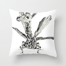 Fly fly fly Throw Pillow