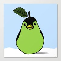Penguin + Pear = Peargui… Canvas Print