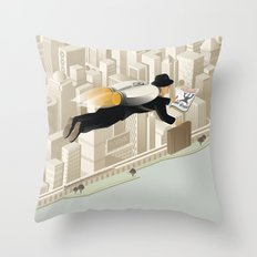 The Morning Commute Throw Pillow