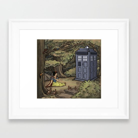 Escape from the Dark Forest Framed Art Print
