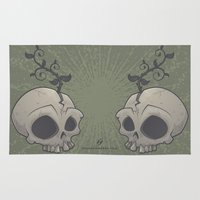 Skull Garden Rug
