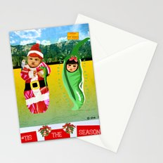 Red & Green Tidings Stationery Cards