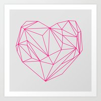 Heart Graphic Neon Versi… Art Print