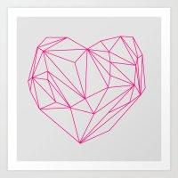 Heart Graphic Neon Versi… Art Print