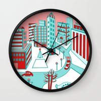 Winter City Wall Clock