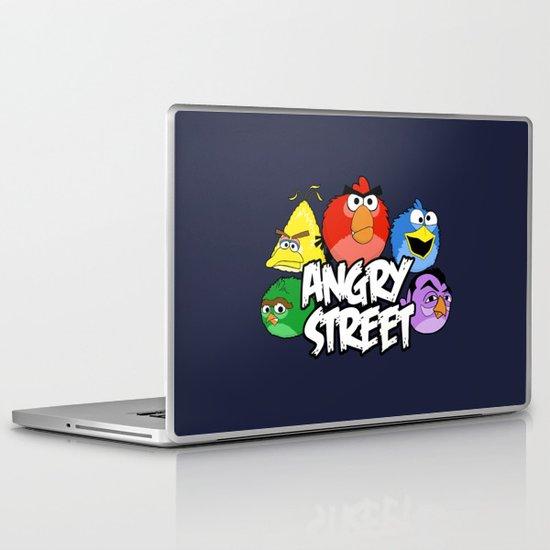 Angry Street: Angry Birds and Sesame Street Mashup Laptop & iPad Skin