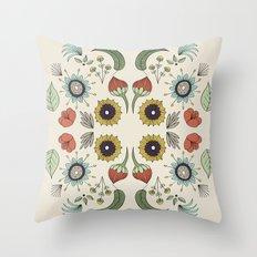 Flora Pattern I Light Throw Pillow