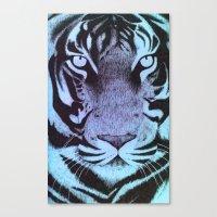 Be A Tiger (Blue) Canvas Print