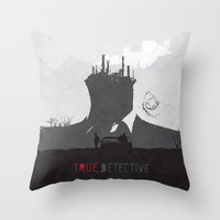 True Detective Throw Pillow