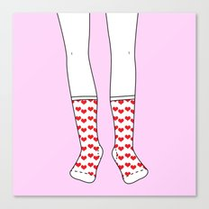 Sweetheart Socks Canvas Print