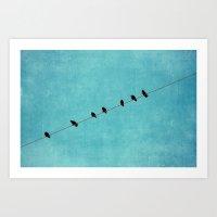 Pretty Little Birds Art Print