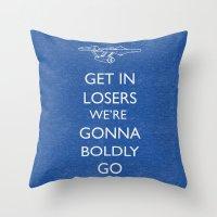 Boldly Go Throw Pillow