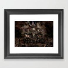 Die Geisterparty auf Halloween ! Framed Art Print