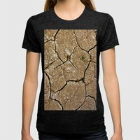 dry soil Womens Fitted Tee Tri-Black SMALL