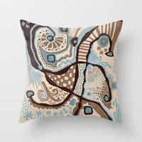 Crowded Land  Throw Pillow