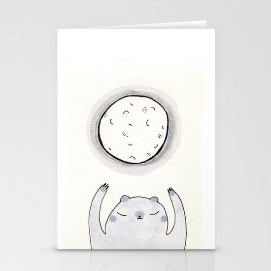 Moon Bear Stationery Card