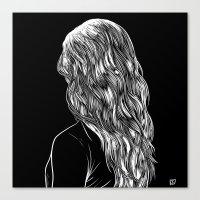 Hair in Black Canvas Print